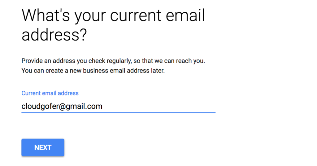 What's your current email address?