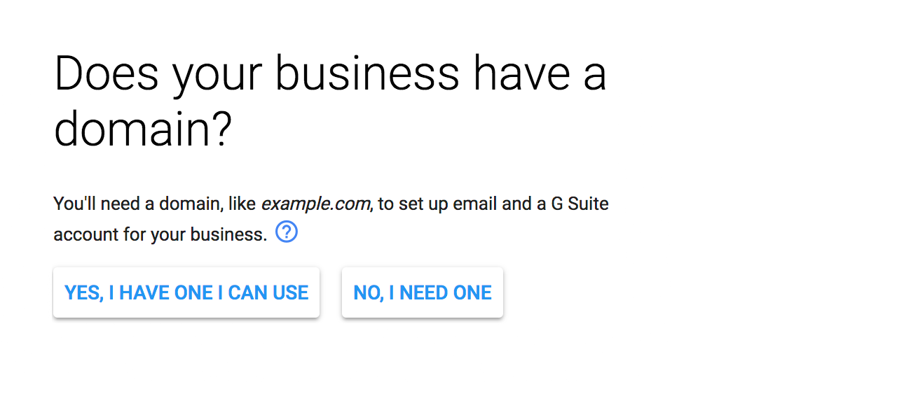 Does your business have a domain?